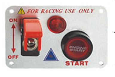 12 Volt Power Speediness Racing Car Switch Panel With Red Indicator Light