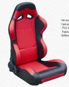 Cars Parts Universal Black And Red Racing Seats Foldable With Safety Belts