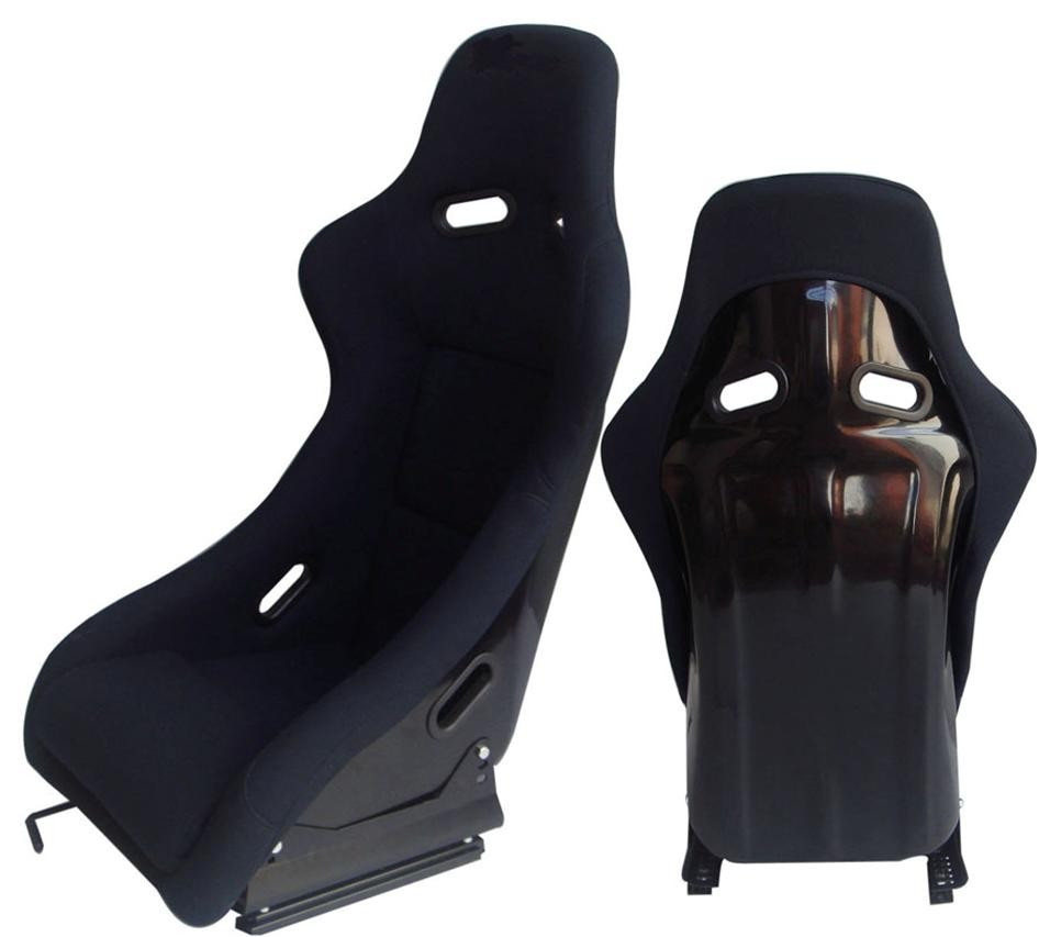 Handmade Custom Black Racing Seats Easy Installation / Cars Bucket Seats