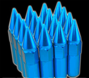 60mm Tuner Racing Lug Nuts 14x1.5 สำหรับล้อ / ขอบ, Blue Lug Nuts