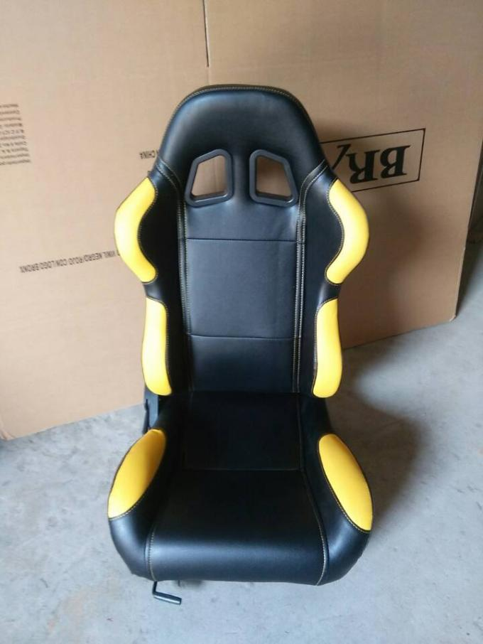 Customized Logo Car Sport Racing Seats With Single Recliner / Single Slider